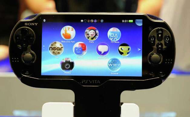A Sony PS Vita is on display at the Sony booth during the 2012 International Consumer Electronics Show at the Las Vegas Convention Center on January 11, 2012 in Las Vegas, Nevada. Photo: Kevork Djansezian, Getty Images / 2012 Getty Images