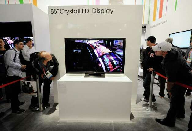 A prototype Sony 55 inch Crystal LED Display is seen at the Sony booth during the 2012 International Consumer Electronics Show at the Las Vegas Convention Center on January 11, 2012 in Las Vegas, Nevada.  Photo: Kevork Djansezian, Getty Images / 2012 Getty Images