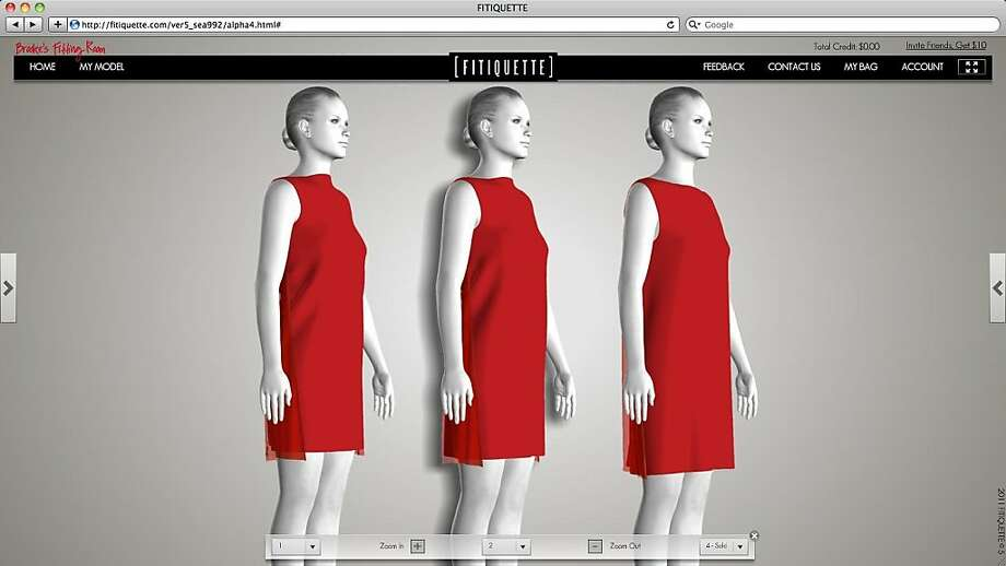 Fitiquette is an online fashion boutique powered by a virtual fitting room. The company was founded by fashion enthusiasts to address online purchase hesitation due to unknown fit. Supported by patented technology, shoppers create a body replica to try-on clothing in different sizes. These dresses are by Harputs. Photo: Fitiquette