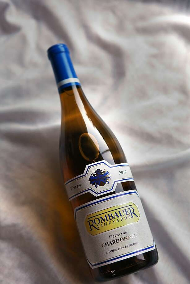 One of Timothy Ferriss' s favorite objects is his favorite bottle of chardonnay wine from Rombauer vineyardson Friday, December 2, 2011, at home in San Francisco, Calif. Photo: Liz Hafalia, The Chronicle