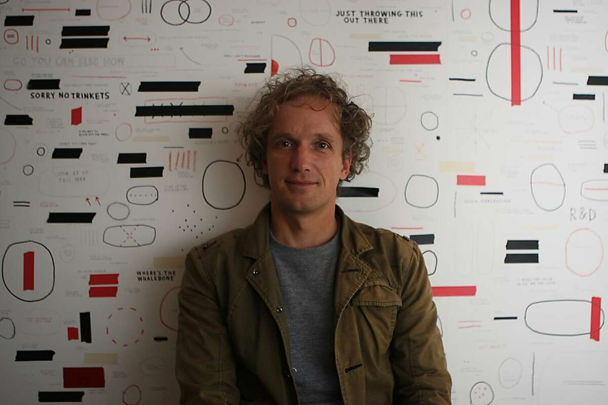 Industrial designer Yves Behar seeks projects for world sustainability at his company, fuseproject, in San Francisco, Calif., on Thursday, December 22, 2011.