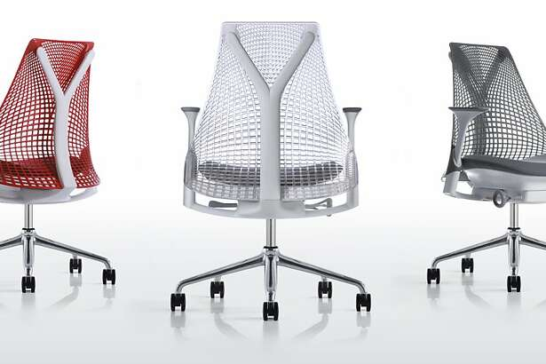 The Sayl chair for Herman Miller furniture company is an office chair designed by Fuseproject, and was influenced by the suspension bridge principles of the Golden Gate Bridge and also by the curvature of the human spine. It is made with an injected urethane sheet that is placed under tension, rather than hard materials, for better flexibility and comfort. It required 100 different patterns, material thickness and tension strength experiments.