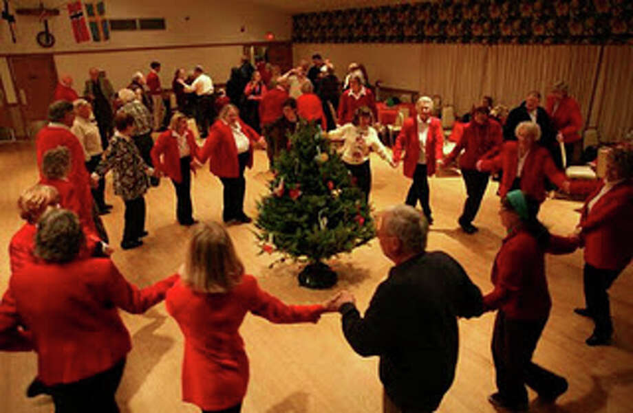 Say goodbye to Christmas Saturday with some singing, dancing and plundering of the Christmas tree at the Scandanavian Club. Photo: Contributed Photo / Fairfield Citizen