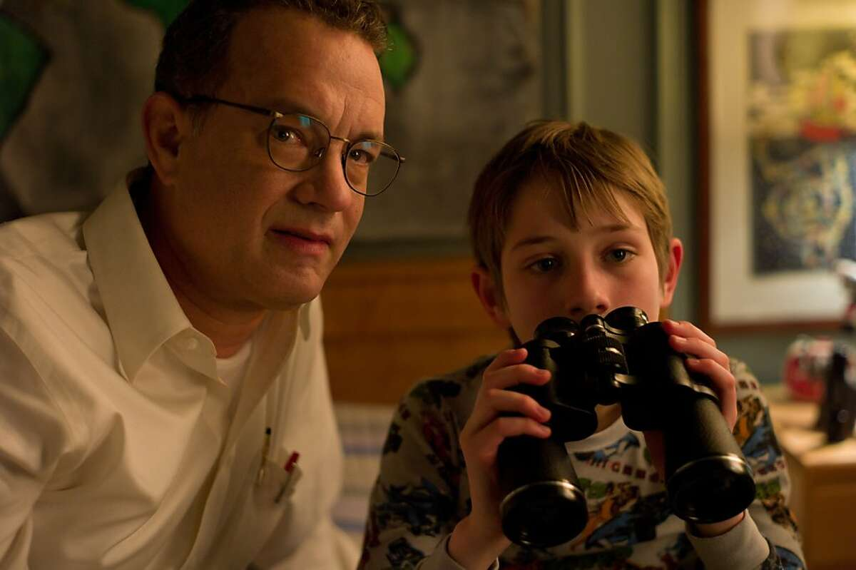 Tom Hanks and Thomas Horn in