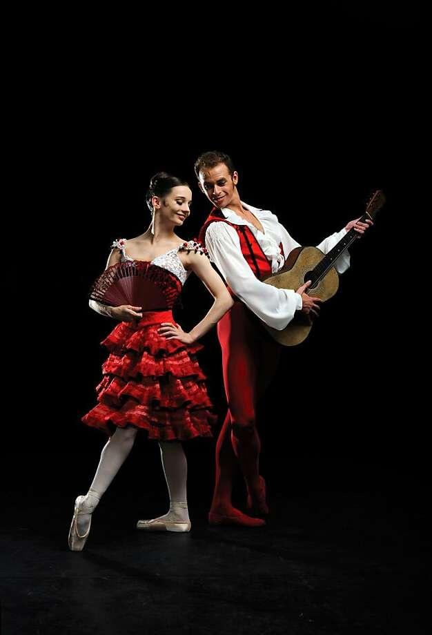 Maria Kochetkova and Taras Domitro in Tomasson/Possokhov's Don Quixote. (© ErikTomasson)  Part of San Francisco Ballet's 2012 season 2011 Publicity Photo: Erik Tomasson