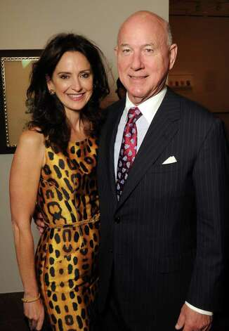 Laurie and Reed Morian at the Museum of Fine Arts Houston patrons dinner celebrating the exhibition New Formations: Czech Avant-Garde Art and Modern Glass from the Roy and Mary Cullen Collection Tuesday  Nov. 01,2011.(Dave Rossman/For the Chronicle) Photo: Dave Rossman / © 2011 Dave Rossman