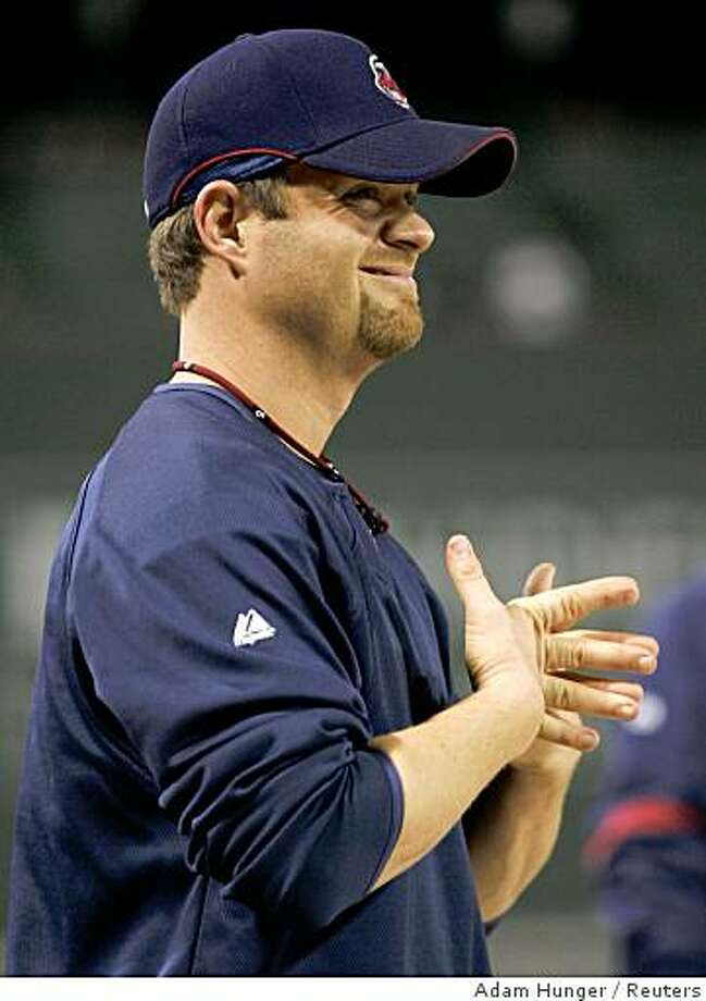 Cleveland Indians pitcher Paul Byrd stands during pre-game warmups before his team plays the Boston Red Sox in Game 7 of Major League Baseball's ALCS playoff series in Boston, Massachusetts October 21 2007. Byrd admitted to using human growth hormone prescribed by his doctors. REUTERS/Adam Hunger (UNITED STATES) Photo: Adam Hunger, Reuters