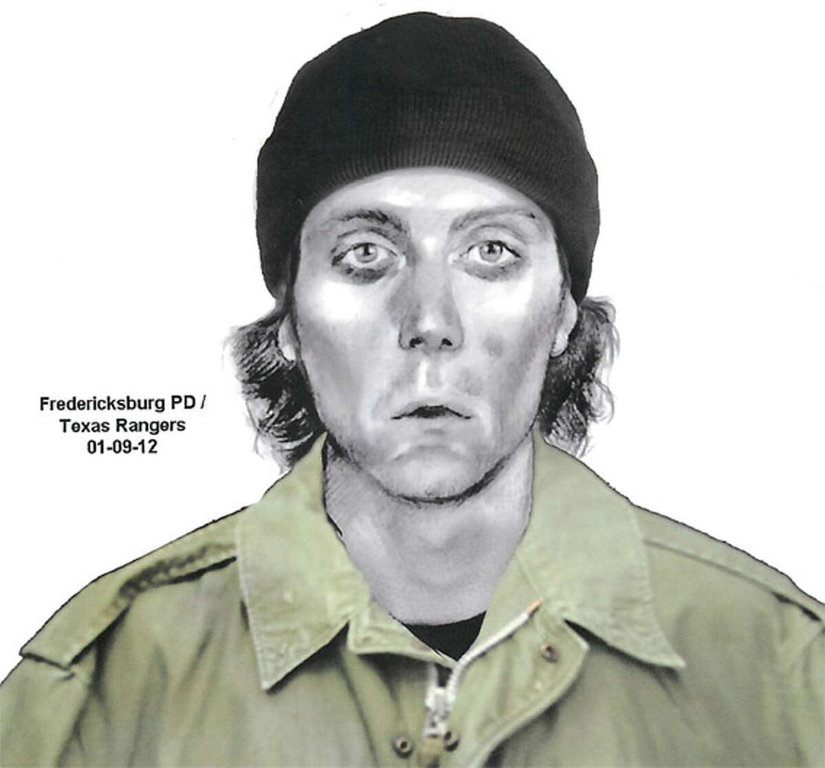 Fredericksburg police are searching for a man who robbed a church secretary of two breakfast tacos and $26 from her purse at knifepoint before fleeing the sanctuary Monday. A police sketch of the suspect depicts a man dressed in knit cap and green jacket.