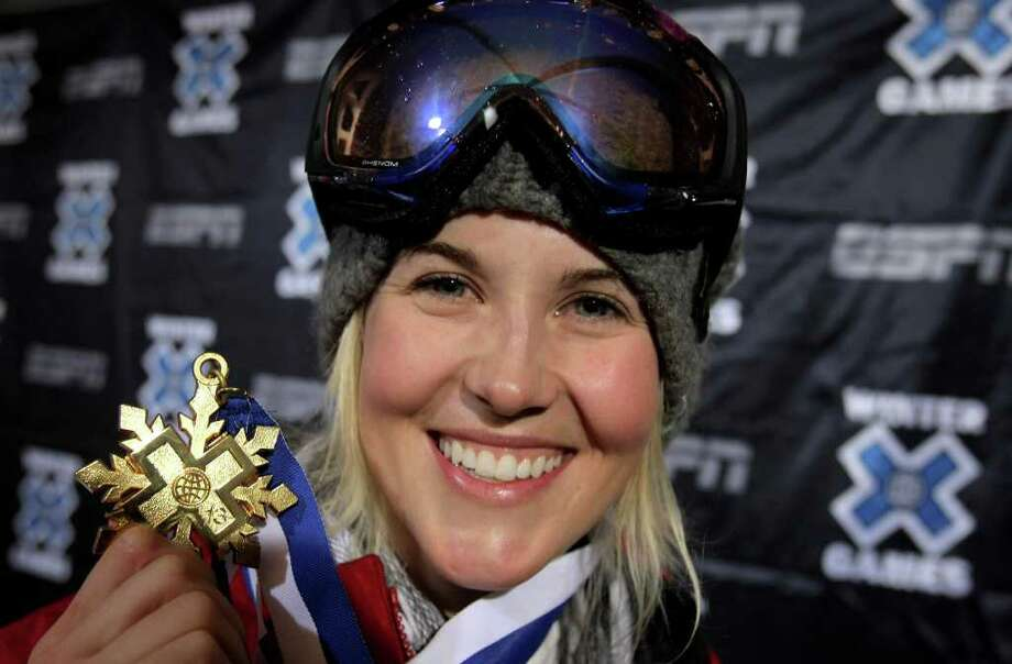 ASPEN, CO - FILE:  Sarah Burke of Whistler, Canada poses with her gold medal after winning the Women's Skiing Superpipe at Winter X Games 13 on Buttermilk Mountain on January 23, 2009 in Aspen, Colorado. Freeskier Sarah Burke was seriously injured in a crash January 10, 2012 in Park City, Utah and was airlifted to Salt Lake City.  (Photo by Doug Pensinger/Getty Images) Photo: Doug Pensinger / 2009 Getty Images