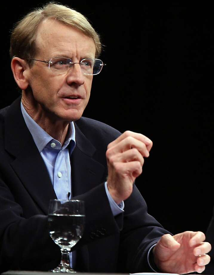 Venture capitalist John Doerr, during a round table at UC Berkeley on Oct. 11, 2007. Photo: Paul Chinn, The Chronicle