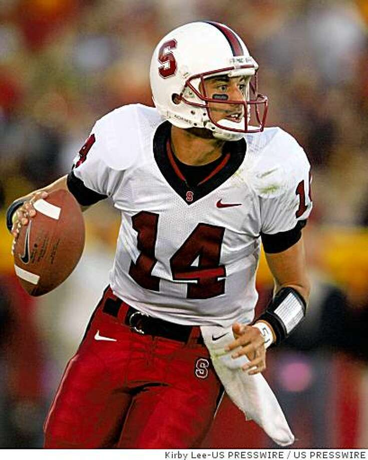 Oct 6, 2007; Los Angeles, CA; USA; Stanford quarterback Tavita Pritchard scrambles during 24-23 victory over Southern California at the Los Angeles Memorial Coliseum. Mandatory Credit: Kirby Photo: Kirby Lee-US PRESSWIRE, US PRESSWIRE