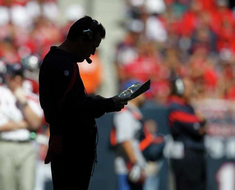 After leading his team to its first division title and playoff win, Gary Kubiak has brought the Texans out of the NFL shadows. Photo: Karen Warren / © 2011 Houston Chronicle