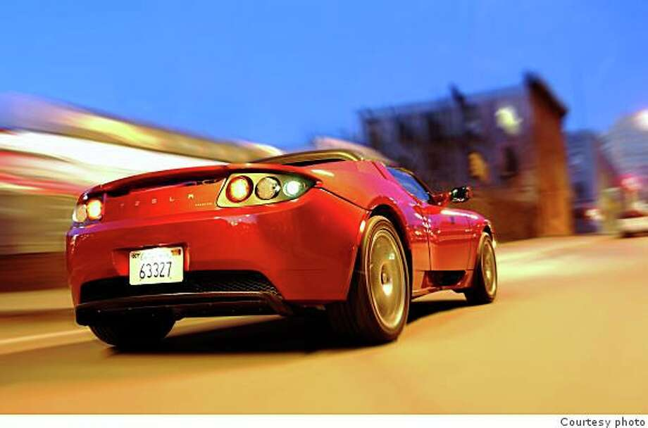 The fully electric Tesla Roadster sports car was engineered in Silicon Valley. Photo: Handout, Courtesy Photo