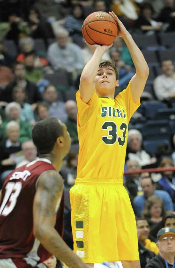 Siena's Rob Poole shoots an outside shot during a MAAC basketball game against Rider at the Times Union Center Thursday, Jan 12, 2012 in Albany, N.Y.  (Lori Van Buren / Times Union)l Photo: Lori Van Buren