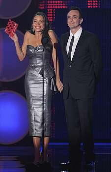 Sofia Vergara, left, and Hank Azaria are seen on stage at the 16th Annual Critics' Choice Movie Awards on Friday, Jan. 14, 2011, in Los Angeles. Photo: Chris Pizzello, AP