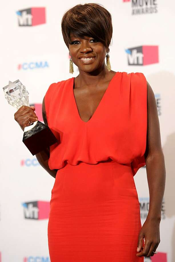 "HOLLYWOOD, CA - JANUARY 12:  Actress Viola Davis, winner of the Best Actress Award for ""The Help"" poses in the press room during the 17th Annual Critics' Choice Movie Awards held at The Hollywood Palladium on January 12, 2012 in Los Angeles, California.  (Photo by Jason Merritt/Getty Images) Photo: Jason Merritt, Getty Images"