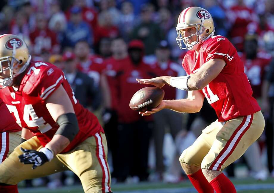 San Francisco 49ers quarterback Alex Smith  gets a hand off in the second half against  the St. Louis Rams, Sunday Dec. 4, 2011, at Candlestick Park in San Francisco, Calif. Photo: Lacy Atkins, The Chronicle