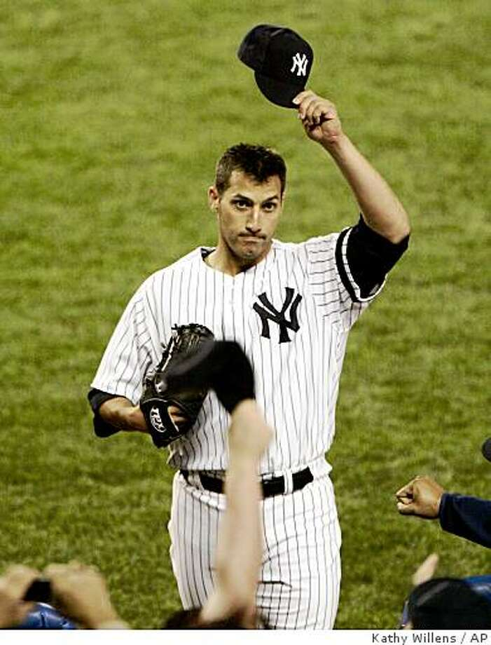 can say something it wasn't a farewell wave after all for pettitte Photo: Kathy Willens, AP