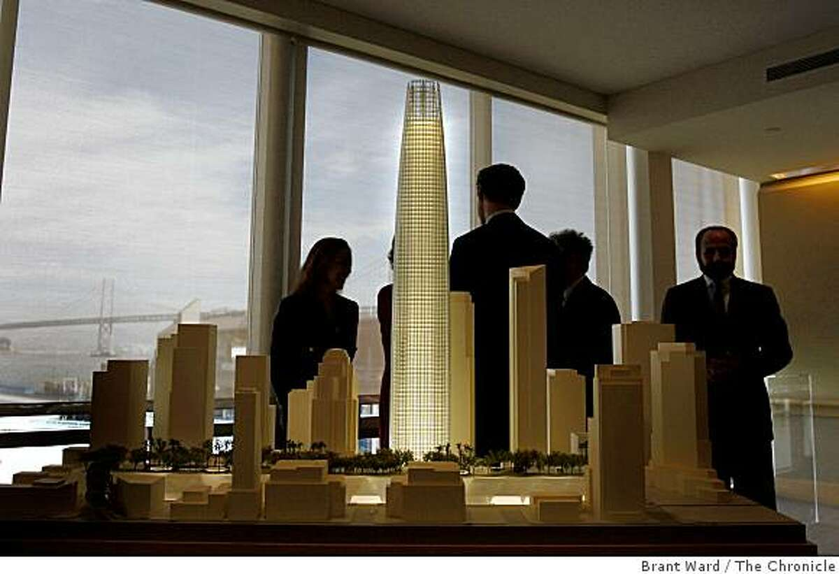 A model of the new Transbay Transit Center designed by Pelli Clarke Pelli architects.