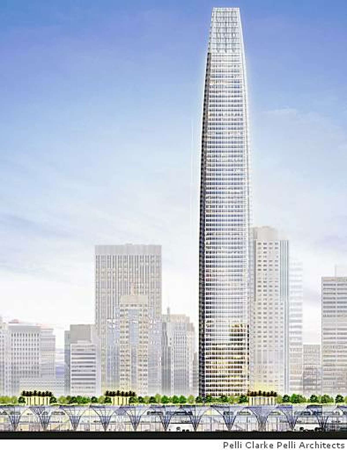 Proposed transbay terminal plan from Pelli Clarke Pelli Architects