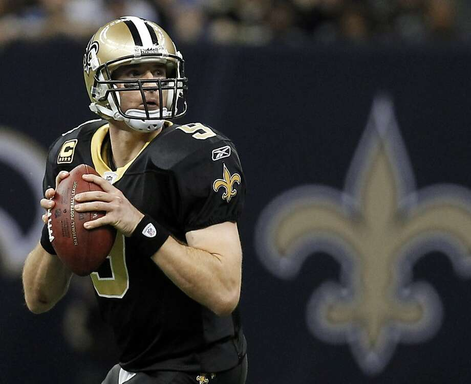 New Orleans Saints quarterback Drew Brees drops back to pass during the second half of an NFL wild card playoff football game against the Detroit Lions Saturday, Jan. 7, 2012, in New Orleans. (AP Photo/Gerald Herbert) Photo: Gerald Herbert, Associated Press