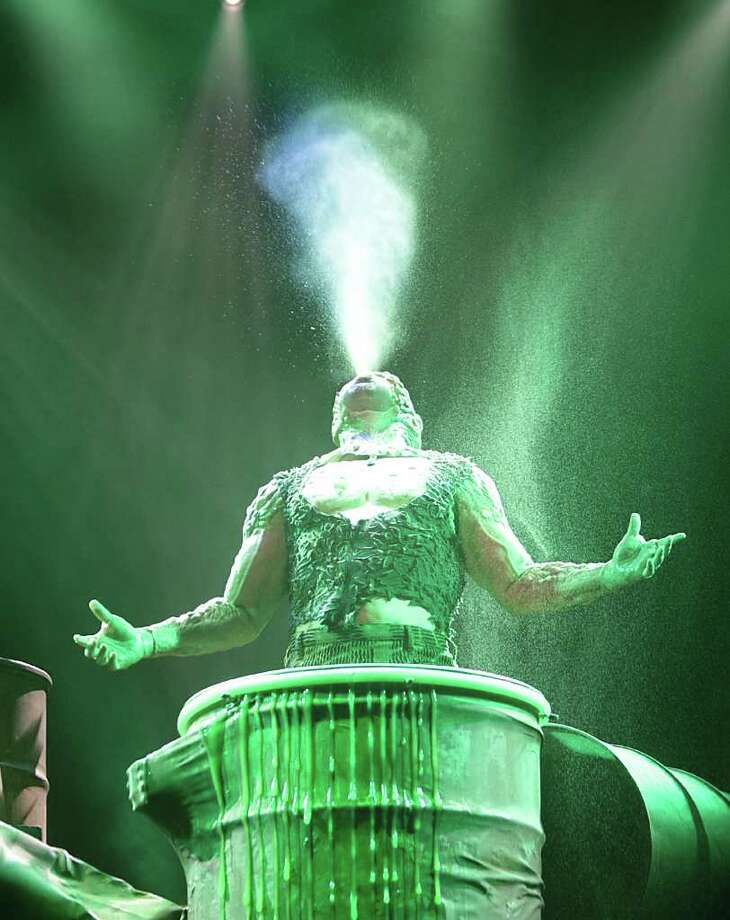 The Toxic Avenger (Constantine Maroulis) emerges after his metamorphosis in the Alley Theatre's production. The show's creators have plans to take it to Broadway following its Houston run. Photo: Nick De La Torre / c Houston Chronicle