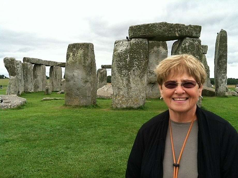 Evie Groch of El Cerrito at Stonehenge. Photo: Courtesy Evie Groch