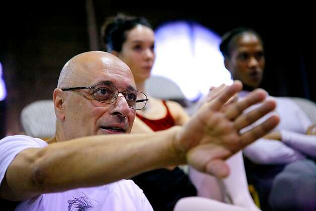 Dennis Nahat in rehearsal Photo: John Gerbetz