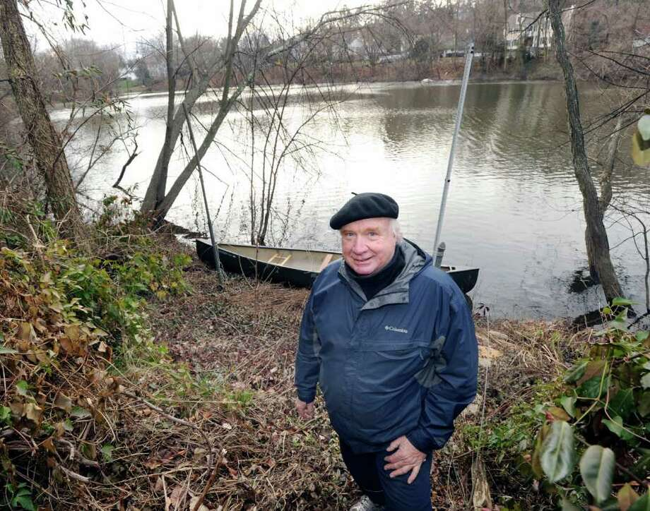 Peter Alexander stands on his Pemberwick property that borders the Byram River, Friday, Jan. 13, 2012. Alexander said that the Byram watershed area was once a wildlife corridor for mountain lions, an animal that Alexander believes should be reintroduced into New England. Photo: Bob Luckey / Greenwich Time
