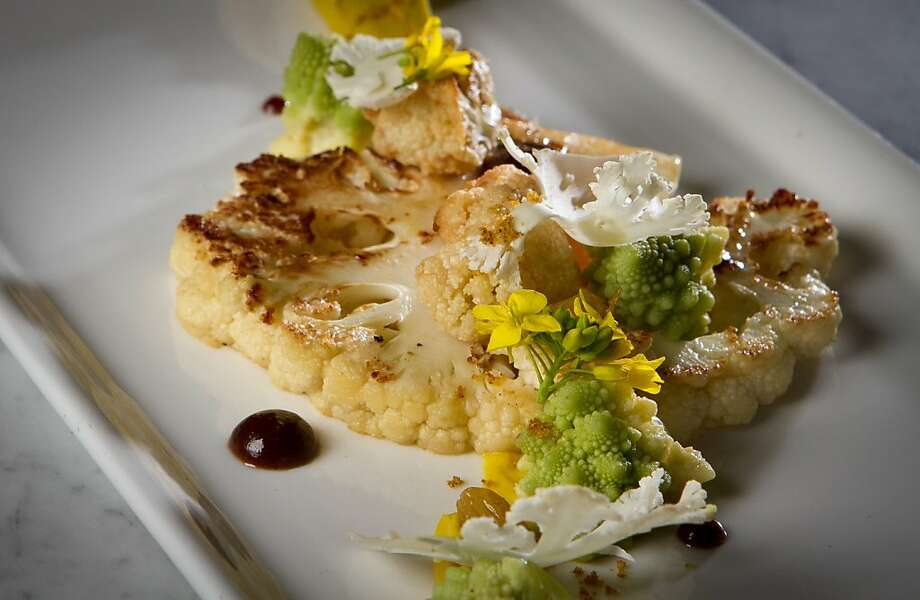 Chef Mark Liberman's inspired cauliflower presentation seems likely to become a signature dish at AQ. Photo: John Storey, Special To The Chronicle