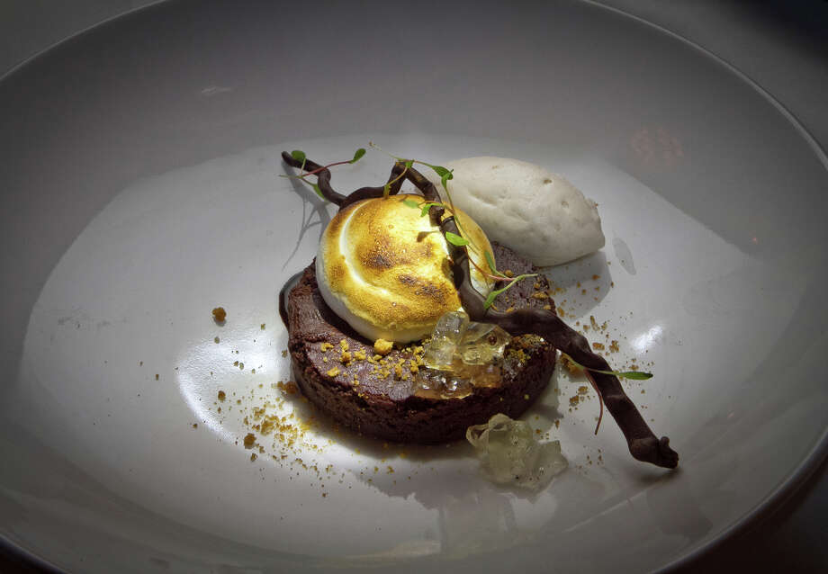 Dark chocolate chibouste at AQ in S.F. Photo: John Storey / Special To The Chronicle / ONLINE_YES