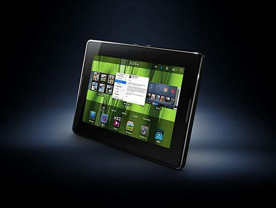 This product image provided by Research In Motion, shows the new Playbook. (AP Photo/Research In Motion) NO SALES Photo: AP