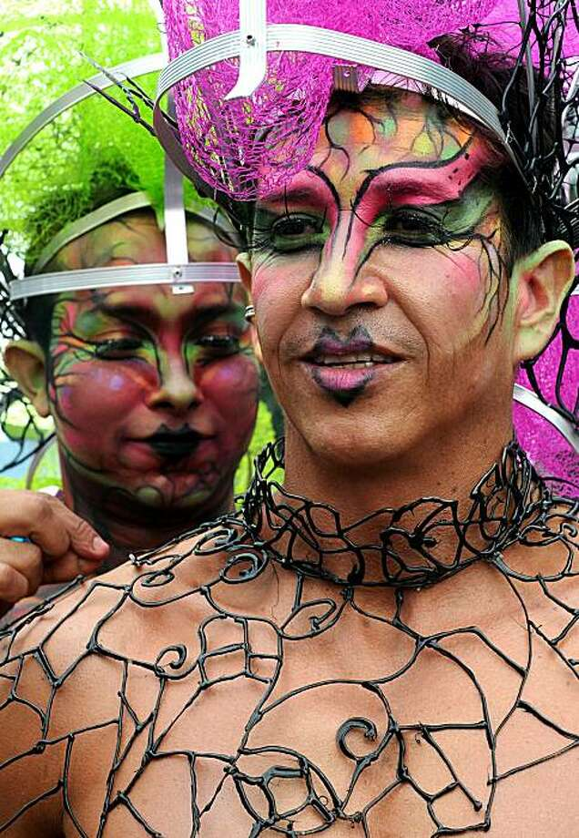 Revellers take part in the annual Gay Pride Parade in Medellín, Antioquia deparment, Colombia on June 27, 2010 Photo: Raul Arboleda, AFP/Getty Images