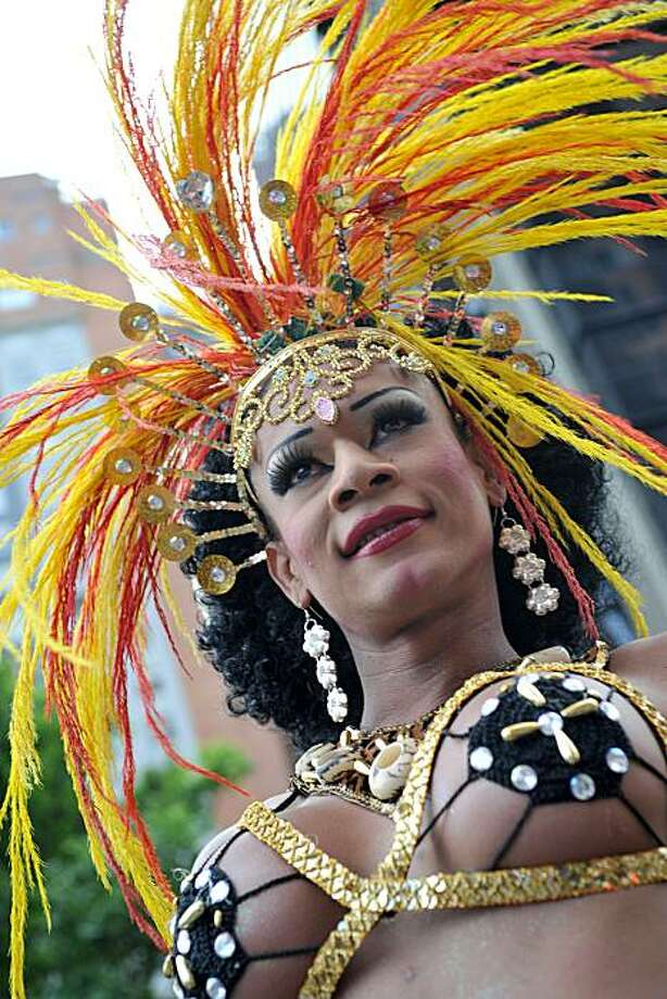 A reveller takes part in the annual Gay Pride Parade in Bogota on June 27, 2010. Photo: Guillermo Legaria, AFP/Getty Images