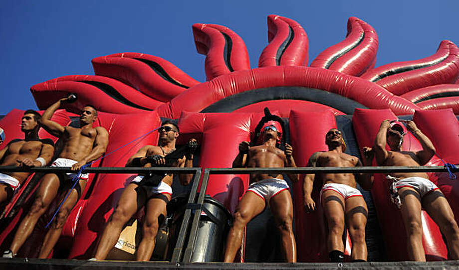 Participants take part in a gay pride parade in Barcelona, Spain, Sunday, June 27, 2010. Photo: Manu Fernandez, AP