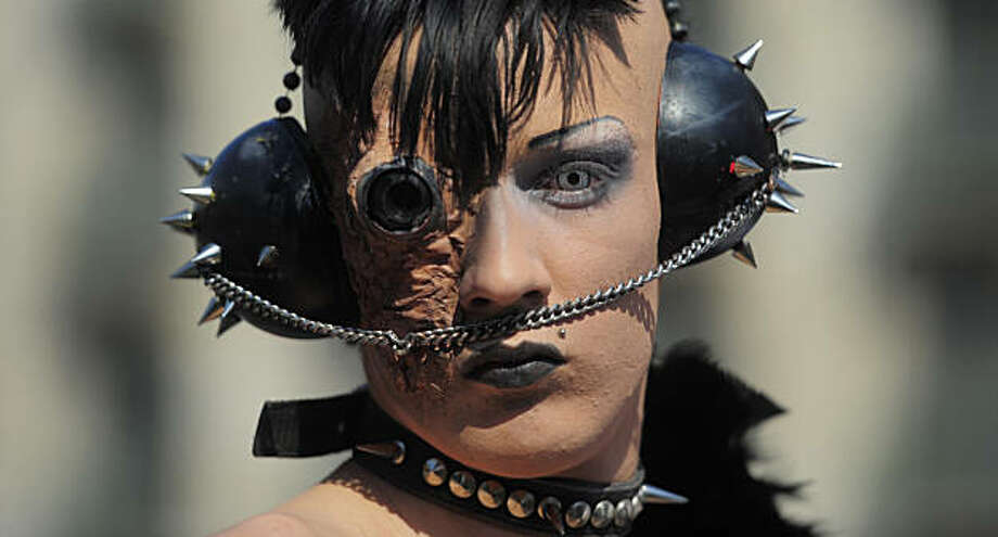 A participant takes part during a gay pride parade in Barcelona, Spain, Sunday, June 27, 2010. Photo: Manu Fernandez, AP