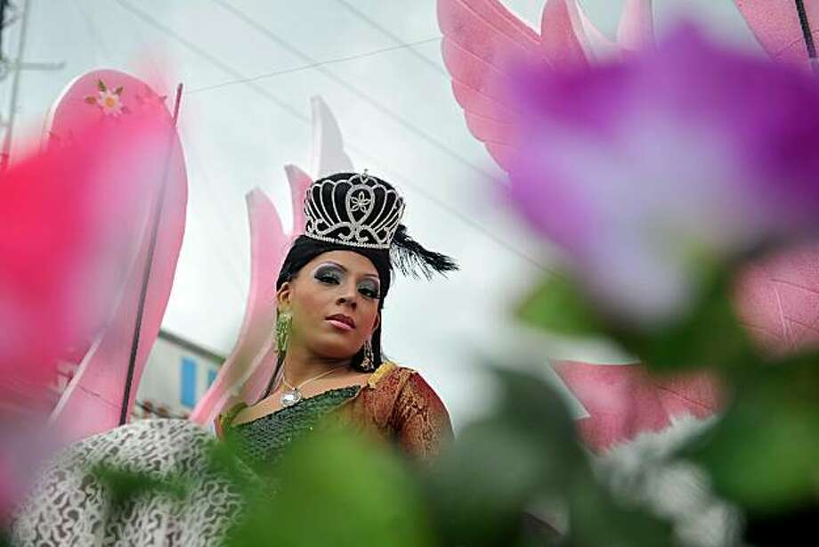 A person takes part in the annual Gay Pride Parade in Guatemala City, on June 26, 2010. Photo: Johan Ordonez, AFP/Getty Images