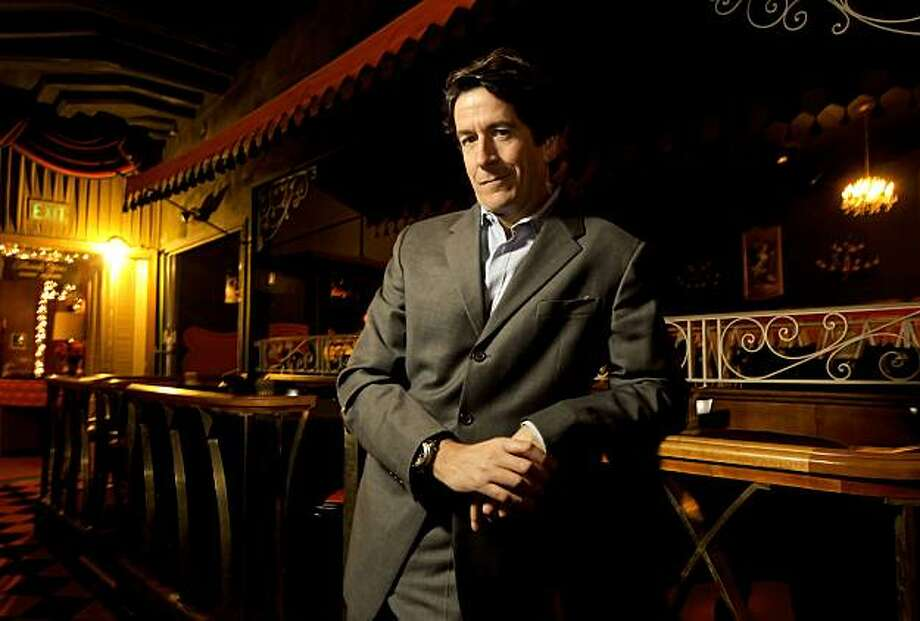 Catching up with Michael Cerchiai, on Wednesday Dec. 1 , 2010, in San Francsico, Calif., who runs the night club Bimbo's, was opened by his grandfather 80 years ago. Cerchiai on the floor of the club. Photo: Michael Macor, The Chronicle