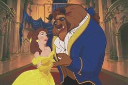 """Disney """"Beauty & the Beast 3D"""" (L-R) Belle & the Beast. 2011 Disney. All Rights Reserved."""
