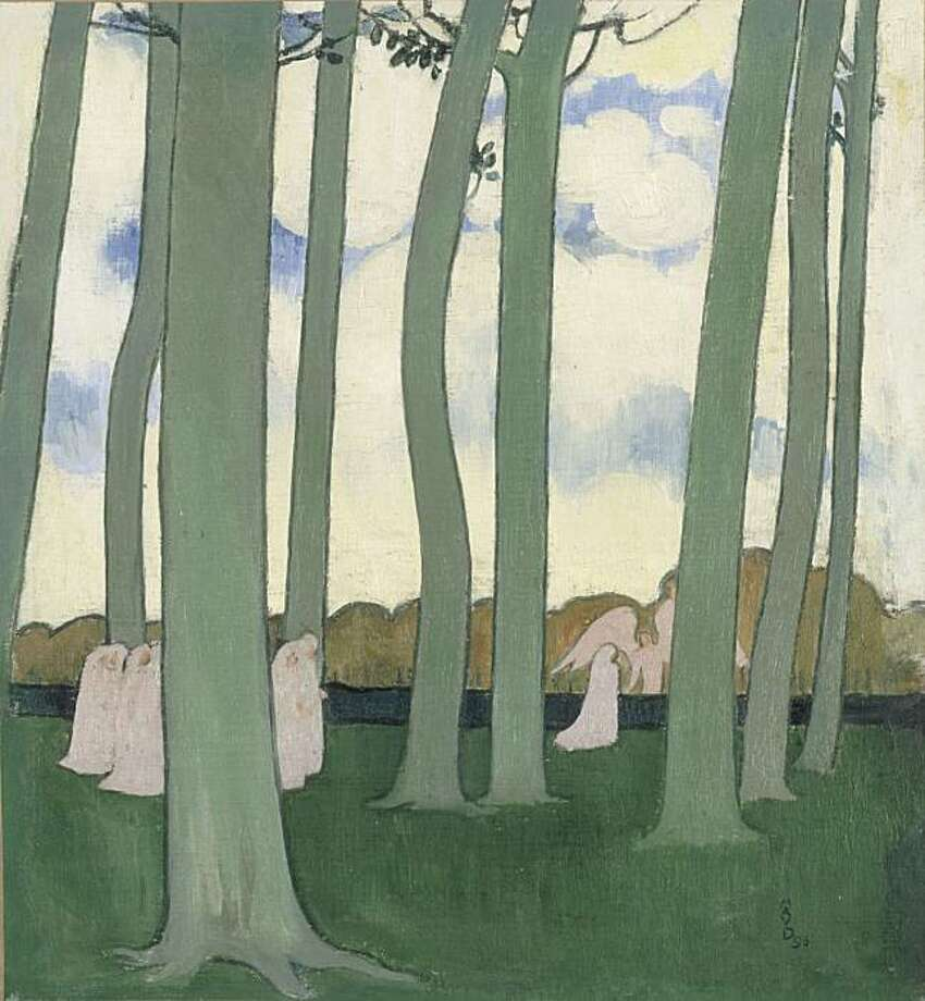 """Landscape with Green Trees"" (1893) oil on canvas by Maurice Denis Photo: Unknown, Fine Arts Museums Of S. F."