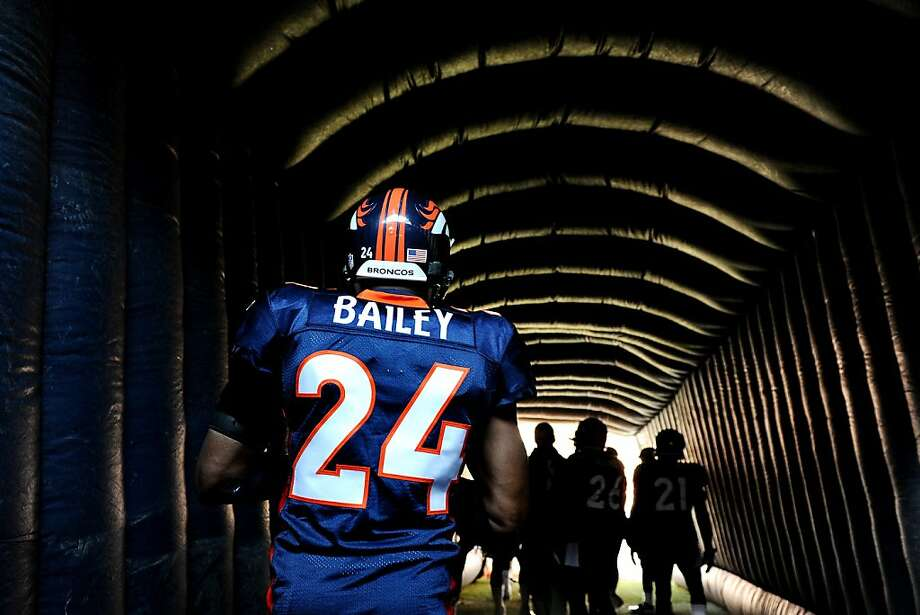DENVER, CO - DECEMBER 18: Cornerback Champ Bailey #24 of the Denver Broncos takes the field against the New England Patriots at Sports Authority Field at Mile High on December 18, 2011 in Denver, Colorado. The New England Patriots won, 41-23. (Photo by Patrick Smith/Getty Images) Photo: Patrick Smith, Getty