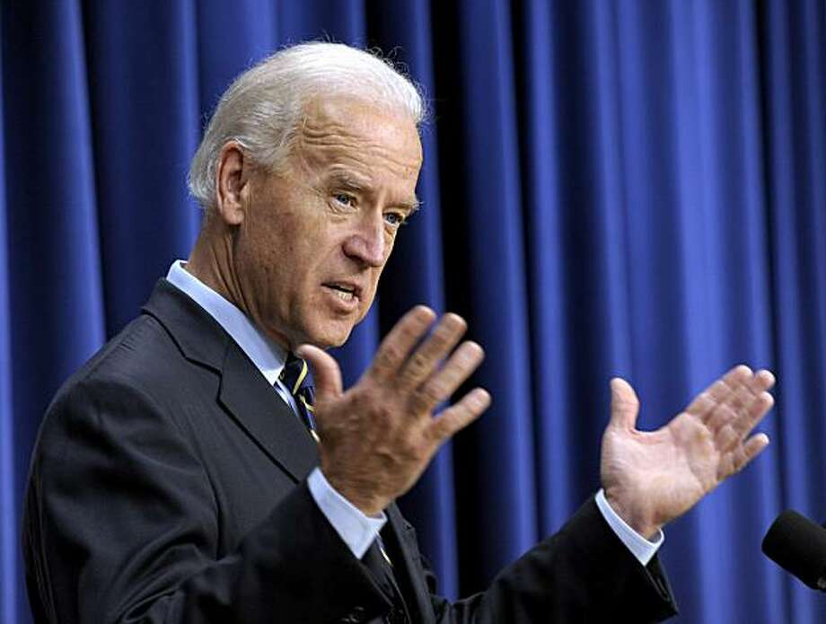 FILE - In this Nov. 19, 2010 file photo, Vice President Joe Biden gestures while speaking at the South Court Auditorium at the White House in Washington. Biden said Friday, Dec. 24, 2010 that the country is evolving on the issue of gay marriage and he thinks it's inevitable there will be national consensus. Photo: Susan Walsh, AP