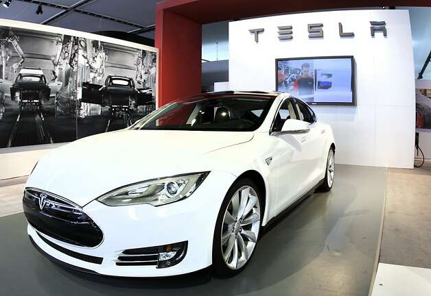 DETROIT, MI, - JANUARY 10: The Tesla Model S Signature is shown during a media preview day at the 2012 North American International Auto Show January 10, 2012 in Detroit, Michigan. The NAIAS opens to the public January 14th and continues through January 22nd. (Photo by Bill Pugliano/Getty Images) Photo: Bill Pugliano, Getty Images