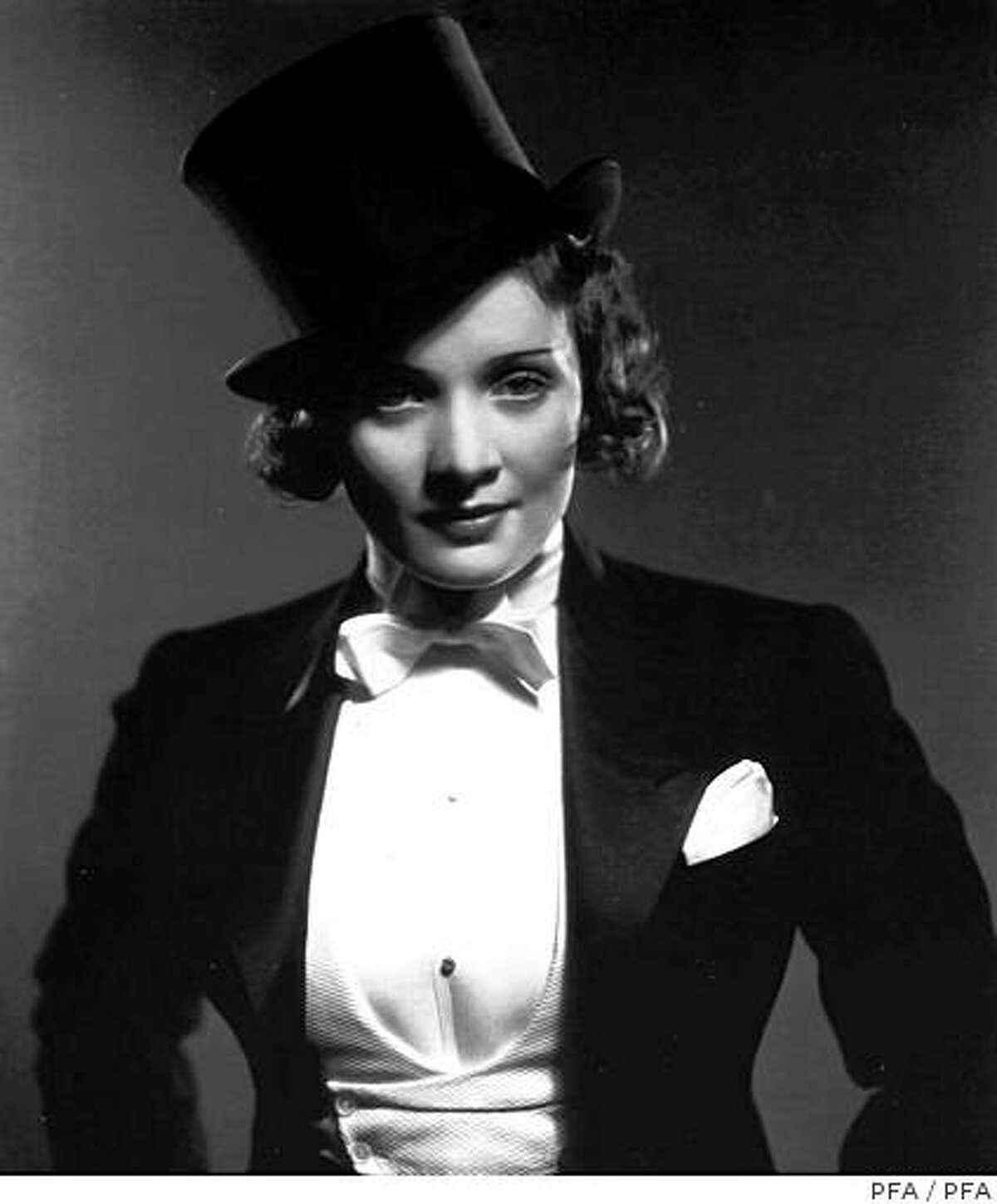 Marlene Dietrich, in Morocco, shown in the Girls Will Be Boys film series at Pacific Film Archive