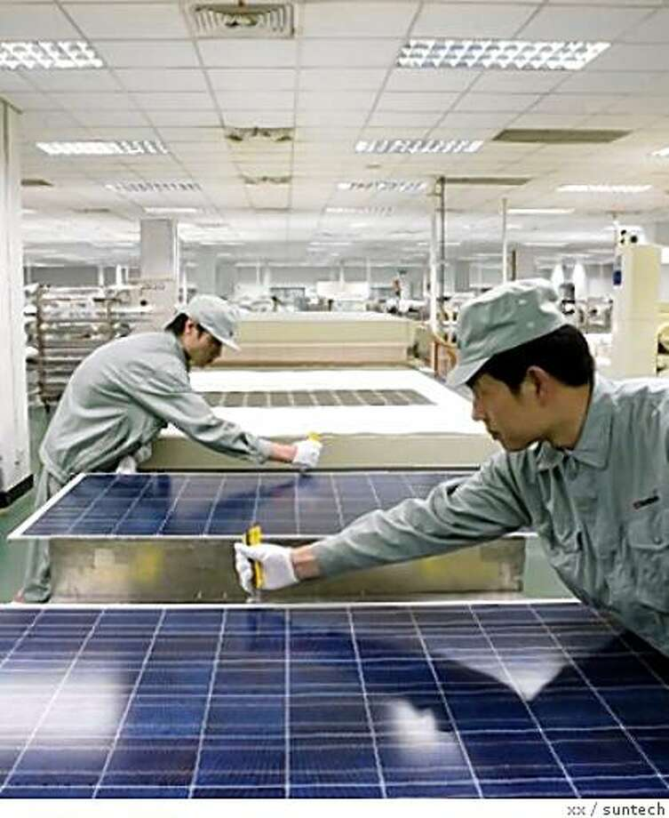 the Chinese solar manufacturer, Suntech, which went public on the New York Stock Exchange in 2005, last year chose San Francisco for its North American headquarters. Photo: Xx, Suntech