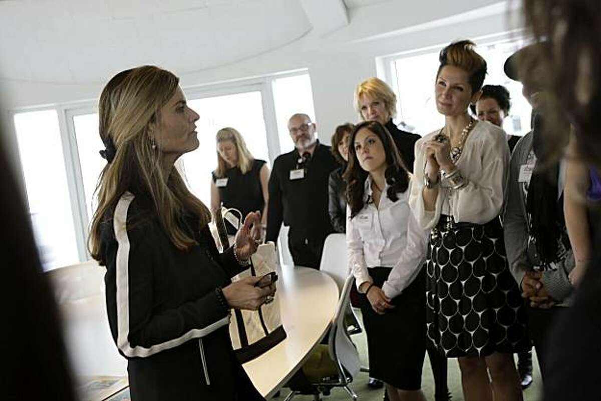At the Fashion Institute of Design & Merchandising, First Lady Maria Shriver met with a group students who created posters for The California Museum's celebration of National Women?•s History Month in San Francisco, Calif. on Wednesday, March 3, 2010,