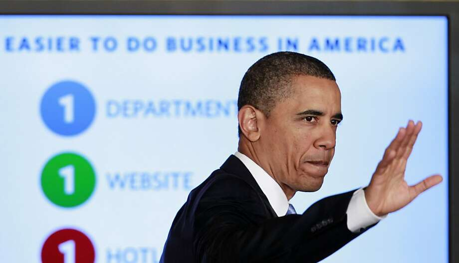 President Barack Obama waves after delivering remarks on government reform, Friday, Jan. 13, 2012, in the East Room of the White House in Washington. (AP Photo/Haraz N. Ghanbari) Photo: Haraz N. Ghanbari, Associated Press