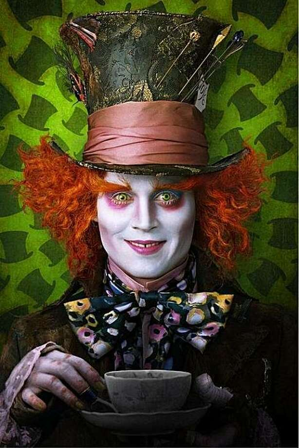 "Johnny Depp as the Mad Hatter in ""Alice in Wonderland."" Photo: Disney"