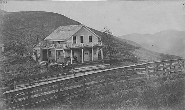 "The Summit House, a hotel, saloon and horse changing station that served the early travelers and teamsters in the nineteenth century.  It was located at the northeast corner of the intersection of Grizzly Peak Boulevard and Fish Ranch Road, at the top of what we know of as Claremont Canyon. Men would often drink and gamble at the Summit House while their horses rested after the grueling task of hauling a wagon up the steep canyon. This was a fine opportunity for the teamsters to take some refreshments of their own. When the first tunnel was built near the Fish Ranch Road, it was the end of the use of the steep canyon and the old Summit Hotel. From the book ""Eccentrics, Heroes, and Cutthroats"" by Richard Schwartz. Photo: Courtesy Richard Schwartz"