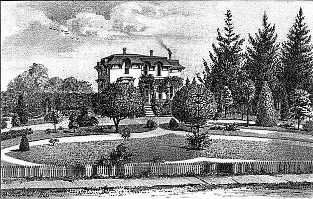 "F. K. Shattuck's house circa 1885.  Shattuck was an owner of a very successful livery business in Oakland, an early mayor and an Alameda County supervisor.  He owned much of what we consider downtown Berkeley when the area just began to develop, a good bit from his untiring efforts and his civic and entrepreneurial zeal.  He convinced the railroad to extend their line to what became downtown Berkeley, where he held much property. He was generous with his orchards and always donated to causes like the Fourth of July fireworks fund and other local civic events. He was not pleased, however, with Mary Townsend and her attempt to stop the railroad. From the book ""Eccentrics, Heroes, and Cutthroats"" by Richard Schwartz. Photo: Courtesy Richard Schwartz"